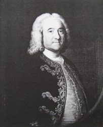 Portrait of Gerard Hartopp Govenor of Plymouth Painted by the artist John Theodore Heins (1697-1756) of Norwich, Norfolk painter