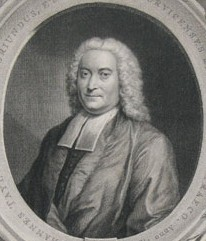Portrait of John Taylor 1694-1761 Unitarian minister at Norwich painted by the artist John Theodore Heins Heine 1697-1756 painter of Norwich Norfolk painting engraved by Jacob Houbraken