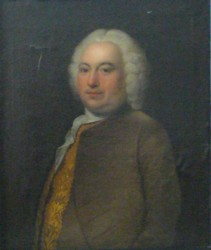 Portrait of a gentleman painted in 1749 by the artist John Theodore Heins Heine 1697-1756 painter of Norwich Norfolk painting