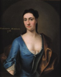 Portrait of Margretta Marsham painted in 1726 by the artist John Theodore Heins Heine 1697-1756 painter of Norwich Norfolk