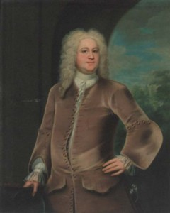Portrait of Miles Branthwayt painted by the artist John Theodore Heins Heine 1697-1756 painter of Norwich Norfolk