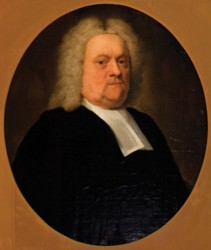 Portrait of Reverend Miles Burkitt painted by the artist John Theodore Heins Heine 1697-1756 painter of Norwich Norfolk