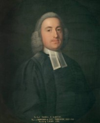 Portrait of the Reverend Thomas R. Du Quesne Vicar of Honingham & East Tuddenham painted in 1750 by the artist John Theodore Heins Heine 1697-1756 painter of Norwich Norfolk painting