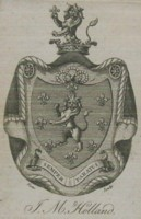 Bookplate of JM Holand. Click for larger image