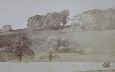 The house at Linely Wood Talke Staffordshire. Photograph taken from the drive in the late 1800s
