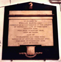 Tablet in memory of William Marsh.  Click for larger image.